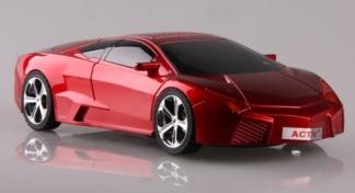 Колонки HY-T508  Lamborghini  с FM радио. Дизайн в виде машинки.