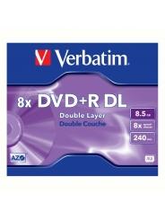 Диск двухслойный Verbatim DVD+R DL 8,5GB 8X Jewel case