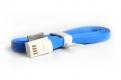 Кабель SMART BUY для IPhone 4/4S, USB 2.0 - 30-pin, голубой, магнитный, 1.2 м.