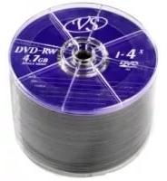 Диски VS DVD-RW 4,7GB 4X Shrink/50