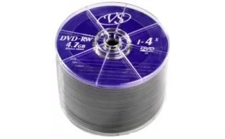 Диски VS DVD-RW 4,7GB 4X Shrink/50
