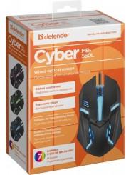DEFENDER Cyber MB-560L, Black, USB, RGB (52560)