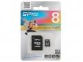 MicroSD 8GB Silicon Class 10 +SD адаптер