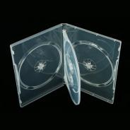 Коробка для 4-х дисков DVD box 14 mm с вставкой глянцевая прозрачная