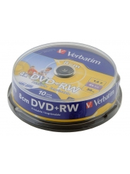 Диск Verbtim DVD+RW 8 cm 1,4GB 4X 30 min CB/10 printable