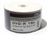 Купить диски DVD-R 4,7GB 16X BULK/50 Full Ink printable