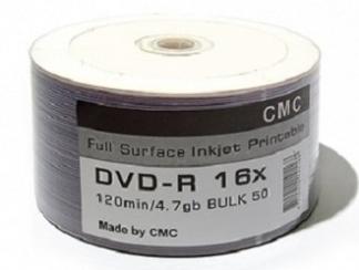 Диски DVD-R 4,7GB 16X BULK/50 Full Ink printable