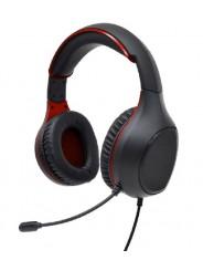 Perfeo игровые наушники с микрофоном ACTION  черная с красным 1,8 м, разъем 2 x 3,5 мм (3 pin)