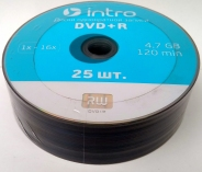 Intro DVD+R 4,7GB 16X Shrink/25