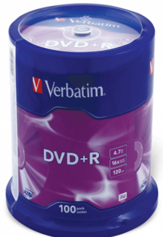 Verbatim DVD+R диски 4,7GB 16X Cake/100