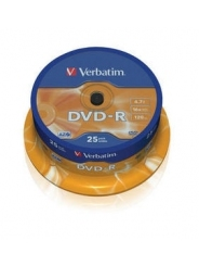 Verbatim DVD-R диски 4,7GB 16X CB/25