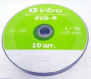 Intro диск DVD-R 4,7GB 16X SHRINK/10