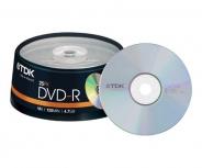Диски TDK DVD-R 4,7GB 16X CB/25