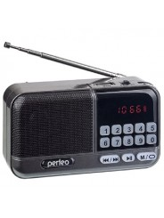 Perfeo радиоприемник цифровой ASPEN FM 87.5-108МГц/ MP3/ питание USB или 18650/ серый (i20GR)