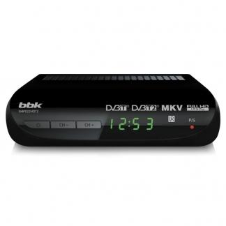 Ресивер DVB-T2 BBK SMP022HDT2 черный