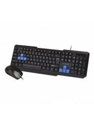 Комплект проводной 2в1 клавиатура+мышь SmartBuy ONE 230346 Black (SBC-230346-KB)