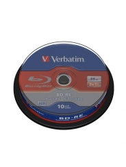 BLU-RAY Диск Verbatim BD-RE 25 Gb 2X CB/10