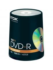 Диски TDK DVD-R 4,7GB 16X CB/100
