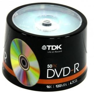 Диски TDK DVD-R 4,7GB 16X CB/50