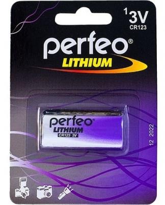 Батарейка Perfeo CR123/1BL Lithium