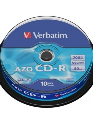 Verbatim CD-R диски 700MB 52X CB/10 AZO