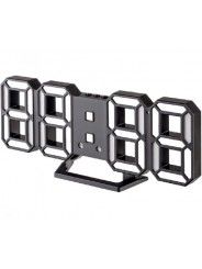 "Perfeo LED часы-будильник ""LUMINOUS 2"", чёрный корпус / белая подсветка (PF-6111)"