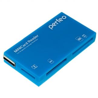Perfeo картридер SD/MMC+Micro SD+MS+M2, PF-VI-R018