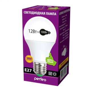 Perfeo светодиодная (LED) лампа PF-A60 12W 220V 3000K E27