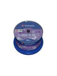 Диски двухслойные Verbatim DVD+R DL 8,5GB 8X CB/50 Double layer