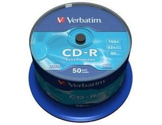Verbatim CD-R ДИСКИ 700MB 52X CB/50