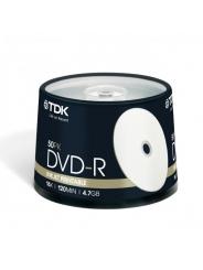 Диски TDK DVD-R 4,7GB 16X CB/50 Ink printable