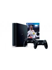 PlayStation 4 Slim 1Tb 2 джойстика, приставка и игра FIFA 18