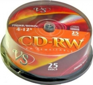 CD-RW ДИСКИ VS 700MB 12X CB/25