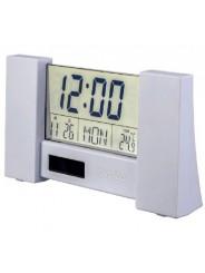 "Perfeo Часы-будильник ""City"", белый, (PF-S2056) время, температура, дата"