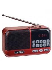 Perfeo радиоприемник цифровой ASPEN FM 87.5-108МГц/ MP3/ питание USB или 18650/ красный (i20RED)