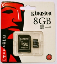 KINGSTON MICROSD 8GB (CLASS 4)