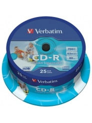Verbatim CD-R Диски 700MB 52X CB/25 full ink printable