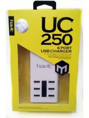 Зарядное устройство HAVIT HV-UC250 white 7A 6 USB
