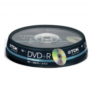 Диски TDK DVD+R 4,7GB 16X Cake/10