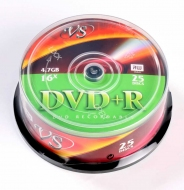 Диски VS DVD+R 4,7GB 16X Cake/25