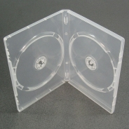 КОРОБКА ДЛЯ 2-Х ДИСКОВ DVD BOX 14 MM CLEAR DOUBLE ПРОЗРАЧНАЯ