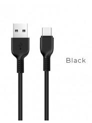 Кабель USB 2.0 - USB Type-C, 1.0м HOCO X13, черный, 2.4A (X13 Type-C black)