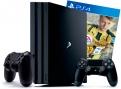 PlayStation 4 Pro 1Tb игровая приставка с 2 джойстиками и игрой FIFA 17