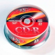 ДИСКИ VS CD-R 80 52X CB/25