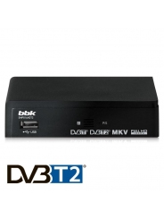 Ресивер DVB-T2 BBK SMP014HDT2 темно-серый