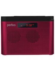 Perfeo радиоприемник цифровой ТАЙГА FM+ 66-108МГц/ MP3/ встроенный аккум,USB/ бордовый (I70RED)