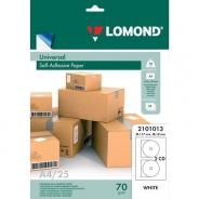 Наклейки на CD Lomond 117-18мм 2шт/A4 25 листов