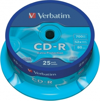 Verbatim CD-R диски 700MB 52X CB/25