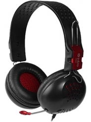 Гарнитура INTRO HS809, черная/красная