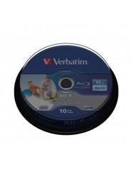 VERBATIM BD-R 25 GB 6x CB/10 White Inkjet Printable No ID